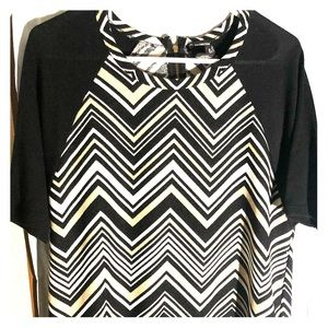 New Directions tribal print blouse